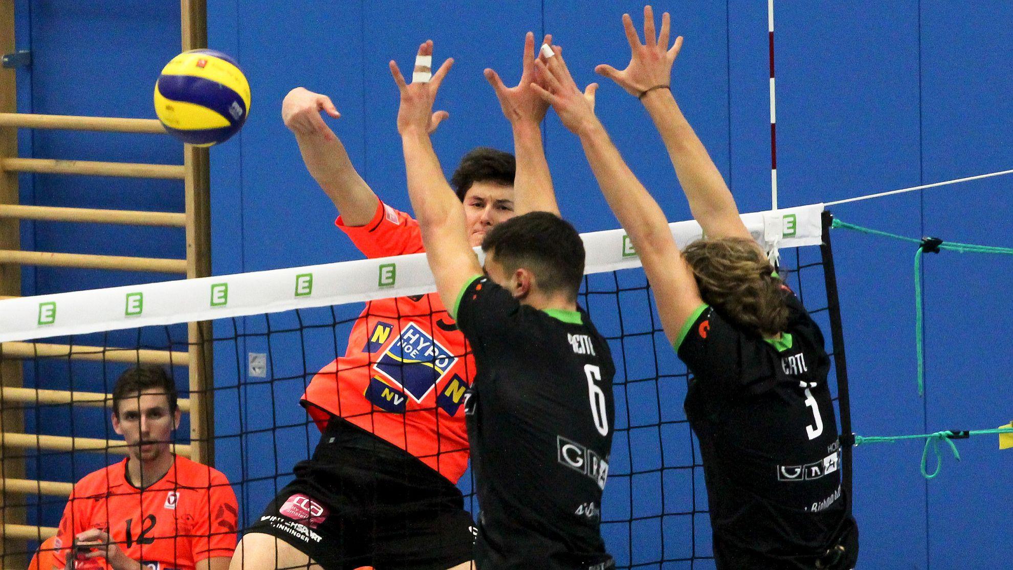 DenizBank AG Volley League Men 2017/18: UVC Holding Graz - SG VCA Amstetten NÖ/hotVolleys - FOTO © Peter Maurer