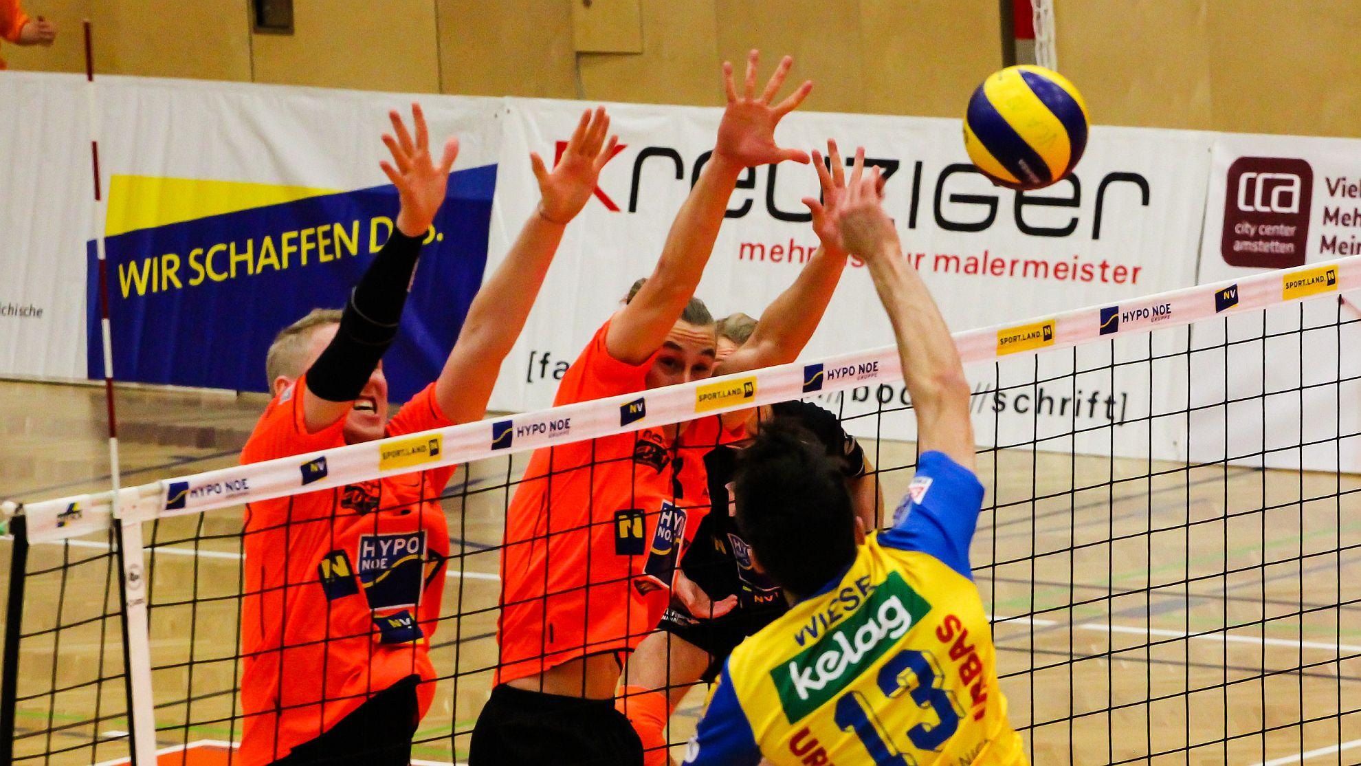 SG VCA Amstetten NÖ/hotVolleys vs. SK Posojilnica Aich/Dob - FOTO © Peter Maurer