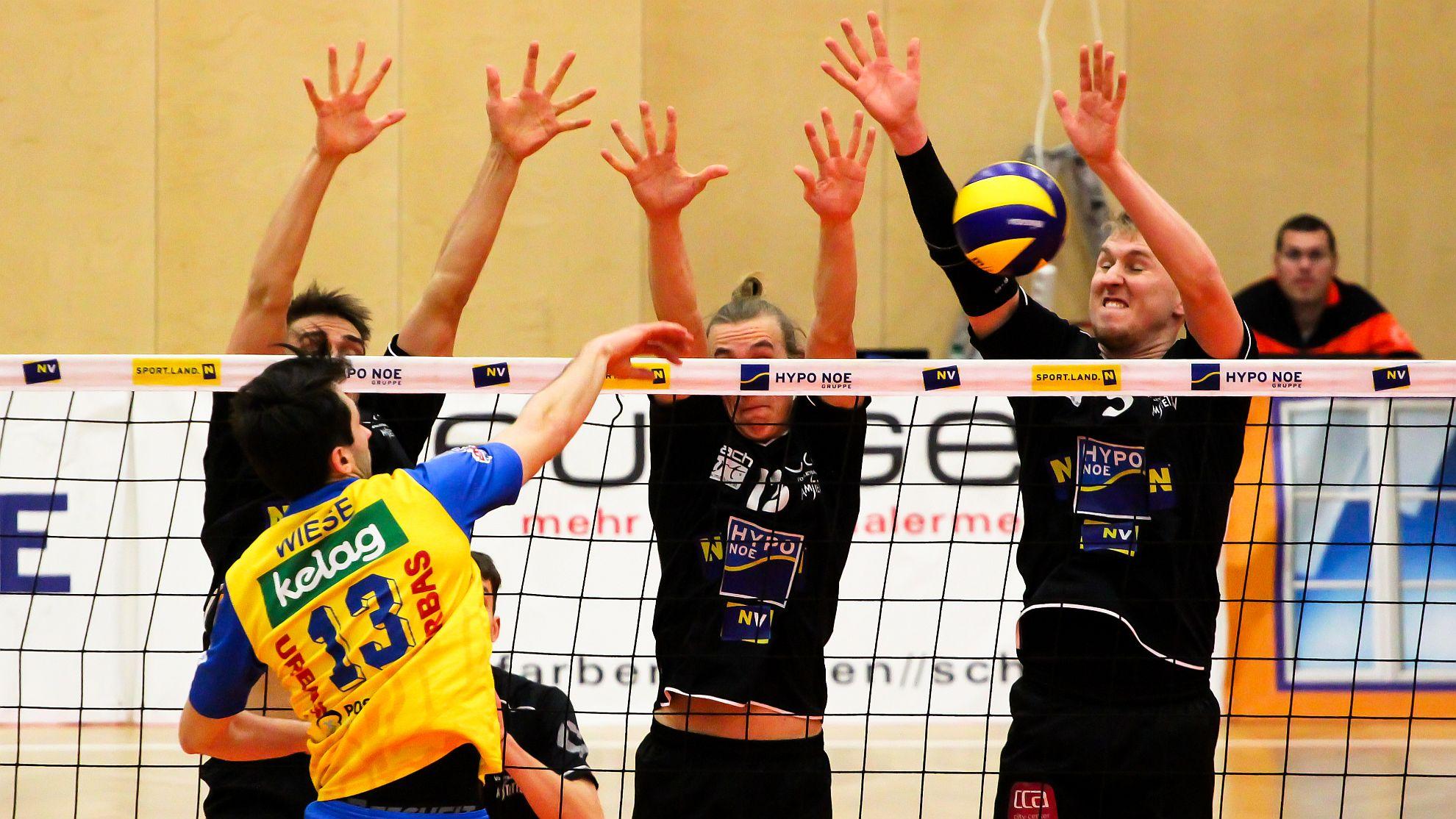 SG VCA Amstetten NÖ/hotVolleys vs. SK Posojilnica Aich/Dob 2018 - FOTO © Peter Maurer