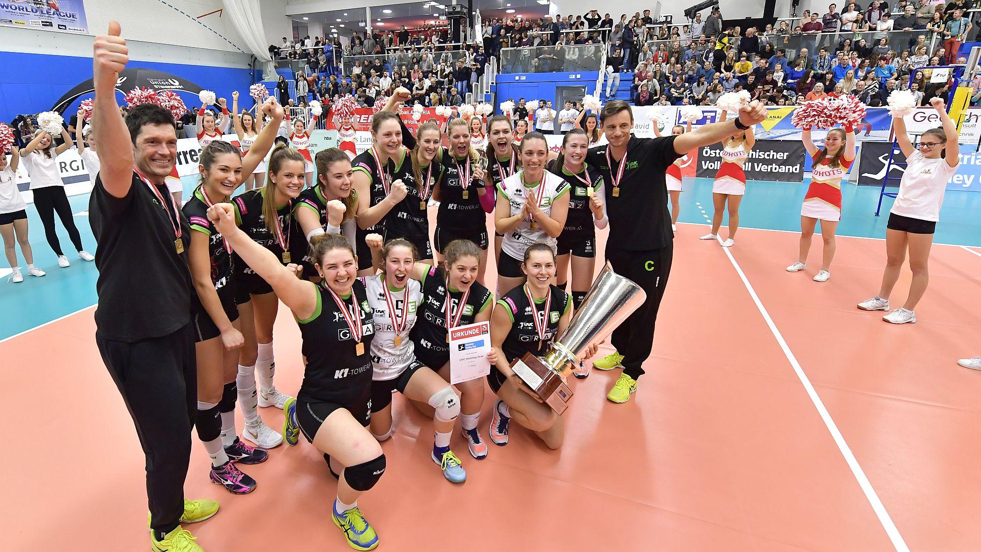 UVC Holding Graz vs SG VB NÖ Sokol/Post, Cupfinale 2018 Frauen - FOTO © ÖVV/Leo Hagen