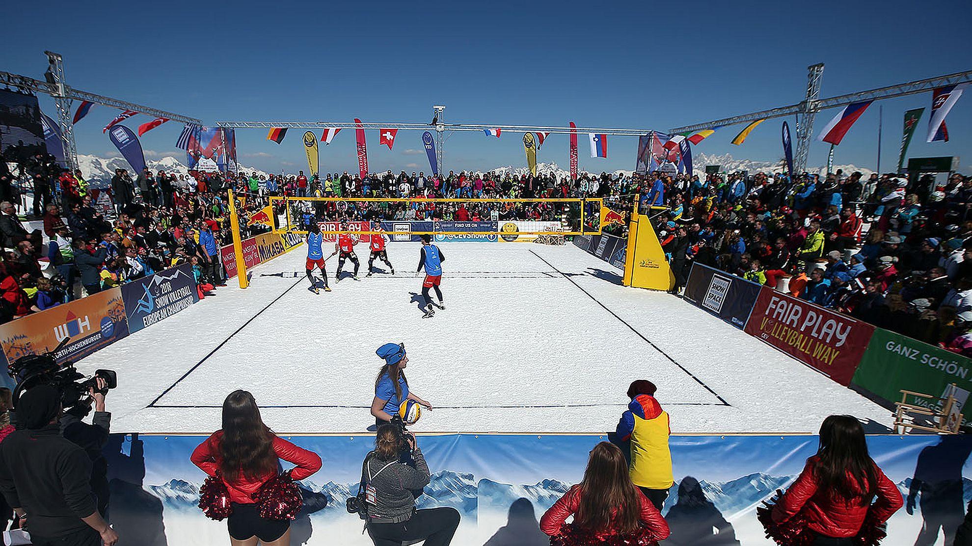 1. CEV Snow Volleyball EM in Wagrain-Kleinarl & Flachau 2018 - FOTO © CEV