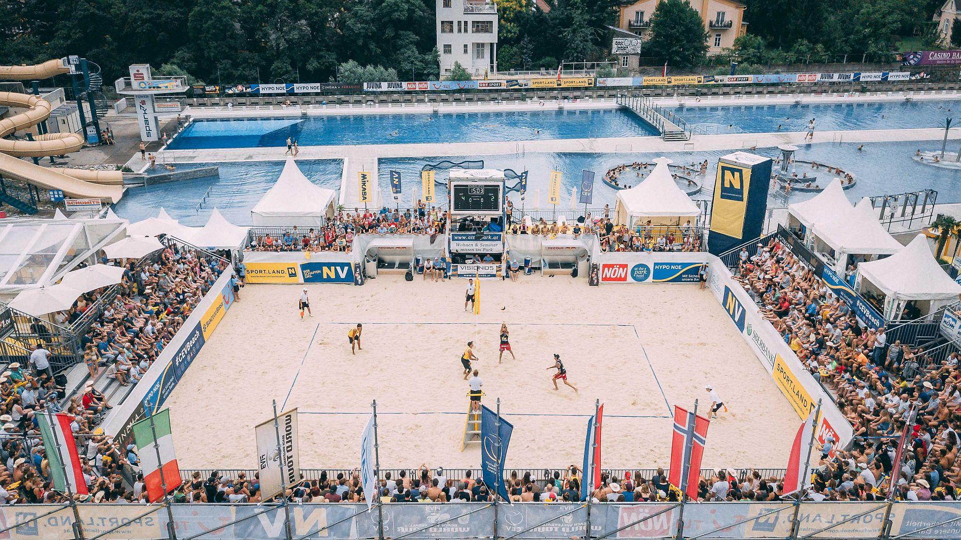 FIVB World Tour Baden Open 2018 - FOTO © EXPA/ Florian Schroetter