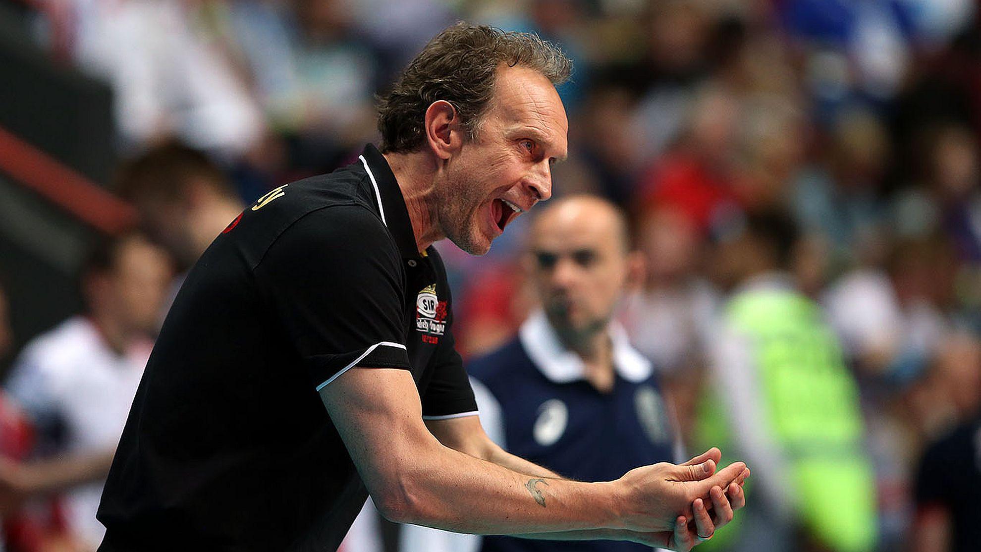 Perugia-Coach Bernardi beim Champions League-Final4 2018 - FOTO © CEV