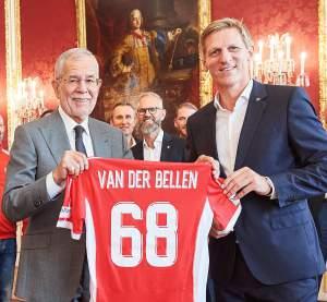 Bundespräsident Alexander Van der Bellen mit ÖVV-Präsident Gernot Leitner - FOTO © ÖVV/Leo Hagen