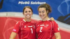 PSvBG Salzburg, Paige Hill und Lisa Sernow 2019 - FOTO © GEPA pictures/Mathias Mandl