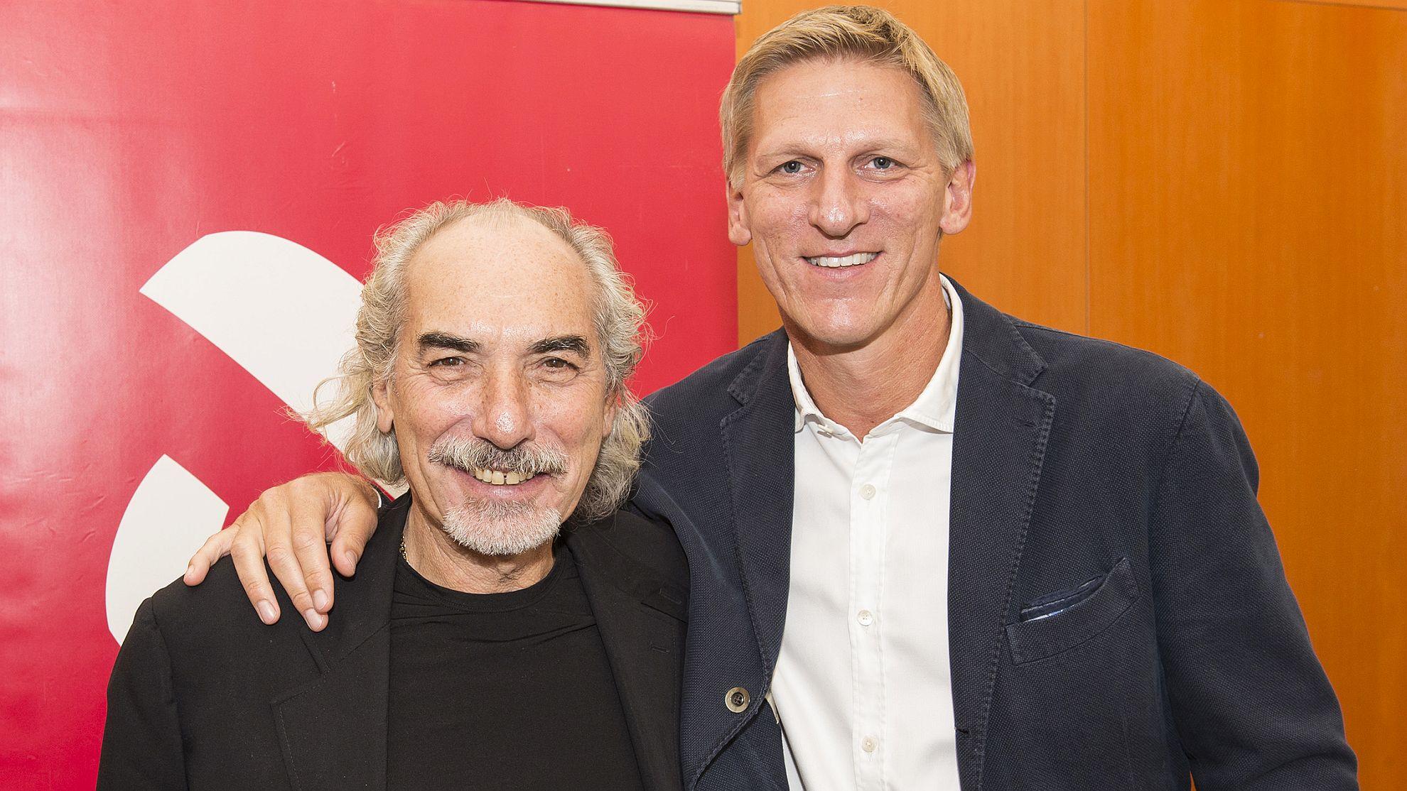 Peter Kleinmann mit seinem Nachfolger Gernot Leitner © ÖVV/Leo Hagen