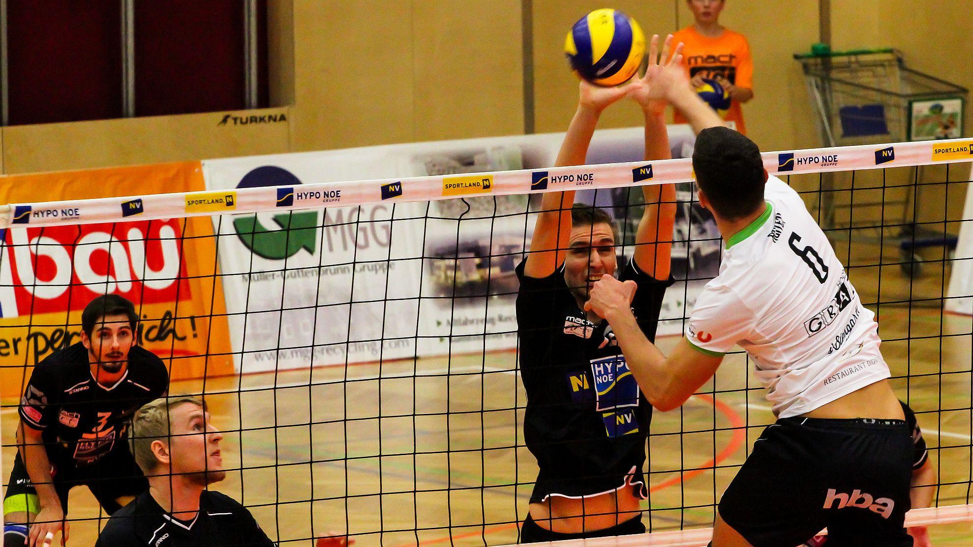 DenizBank AG Volley League Men 2017/18: SG VCA Amstetten NÖ/hotVolleys vs. UVC Holding Graz - FOTO © Peter Maurer
