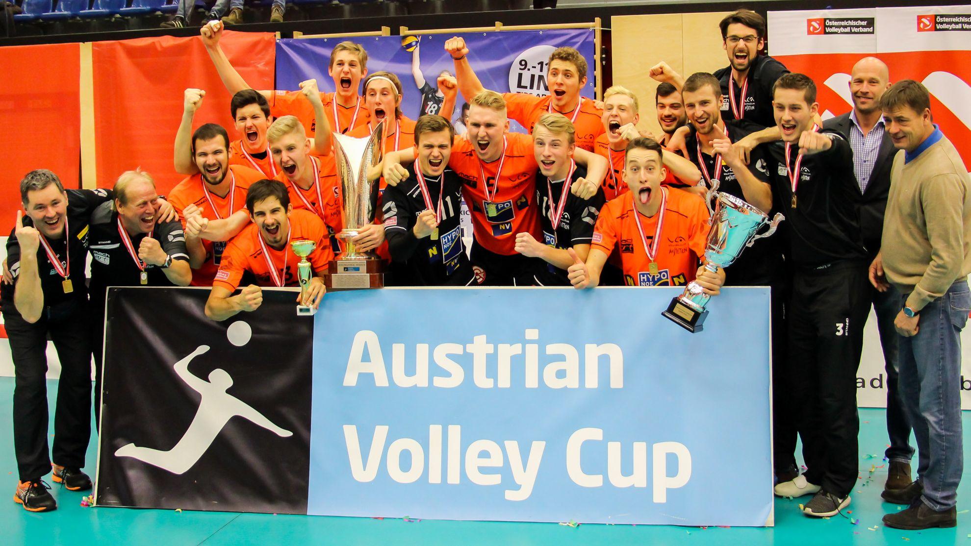 Austrian Volley Cup-Sieger 2017 SG VCA SG VCA Amstetten NÖ/hotVolleys © Peter Maurer
