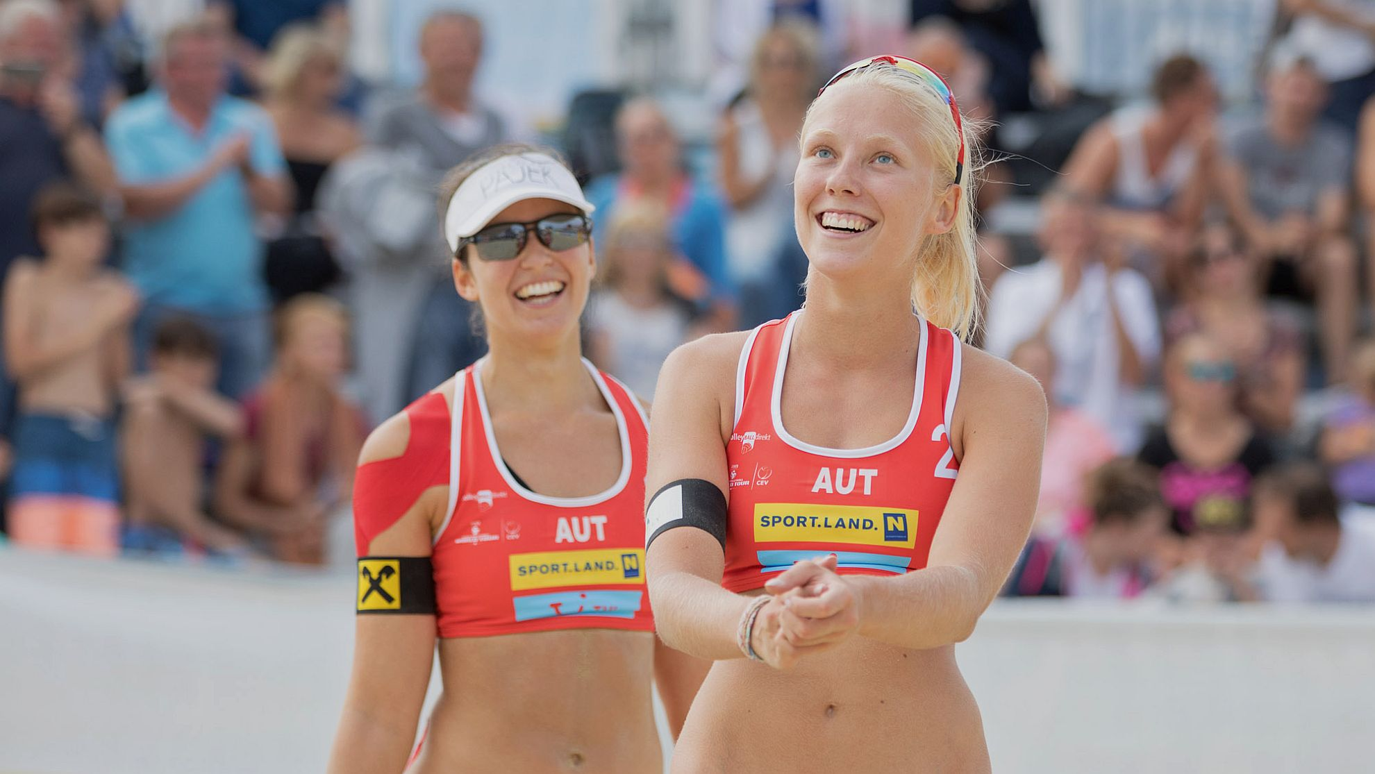 FIVB World Tour Baden Open, Franziska Friedl/Nadine Strauss - FOTO © Rainer Mirau