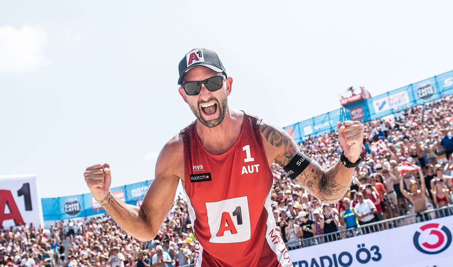 Clemens Doppler 2018 - FOTO © Jörg Mitter/Beach Volleyball Major Series/Red Bull Content Pool