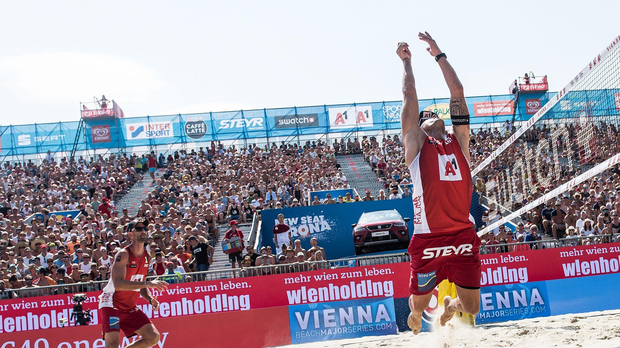 Clemens Doppler/Alex Horst 2018 - FOTO © Jörg Mitter/Beach Volleyball Major Series/Red Bull Content Pool