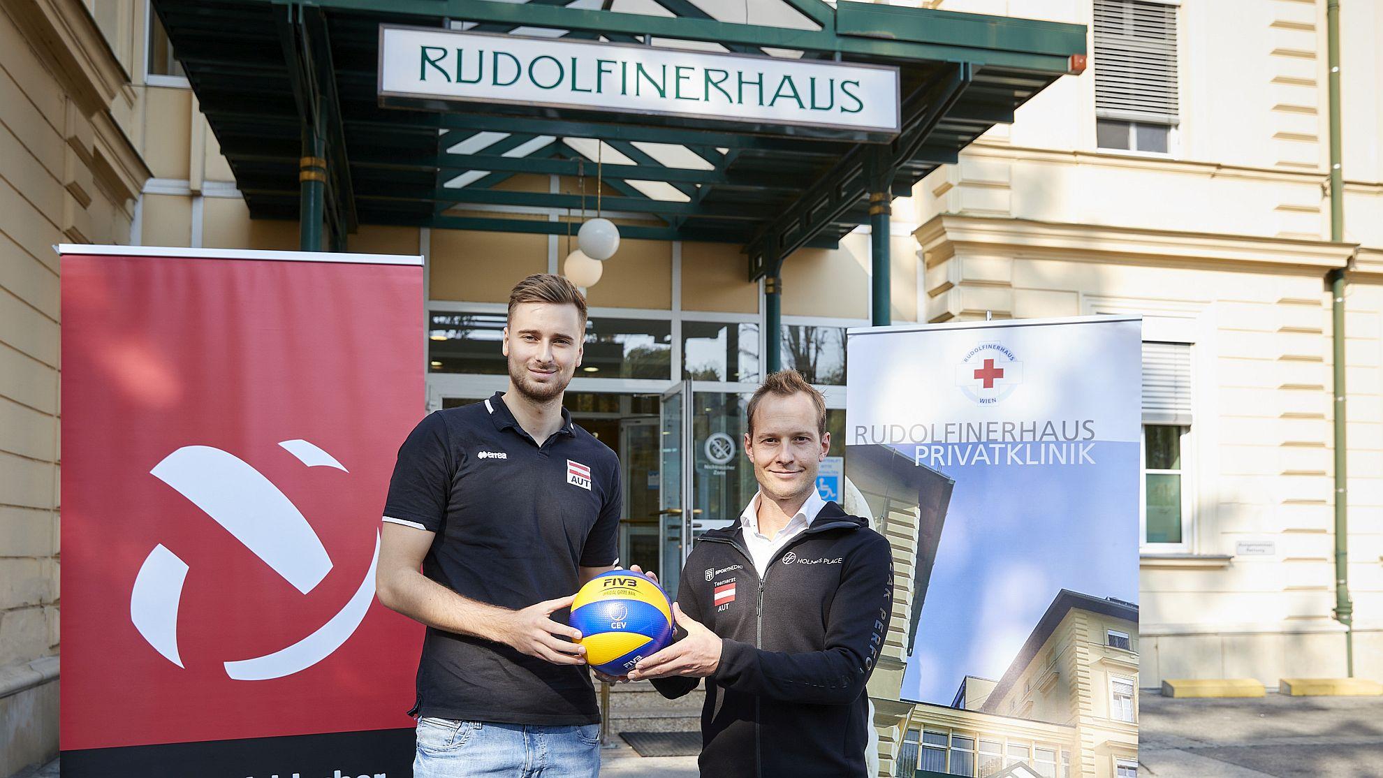 Paul Buchegger mit Lukas Brandner im Rudolfinerhaus - FOTO © Markus Wache