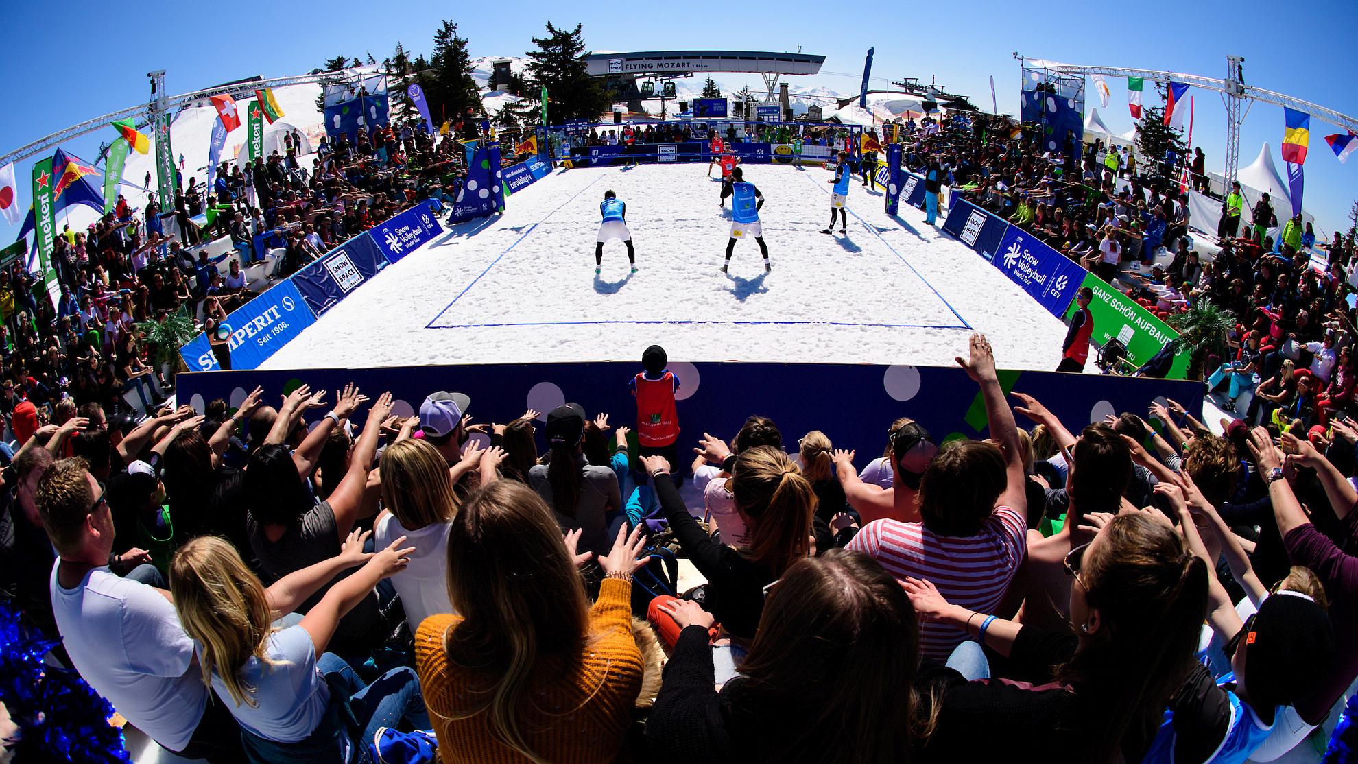 FIVB Snow Volleyball World Tour Wagrain-Kleinarl 2019 © Conny Kurth/Chaka2